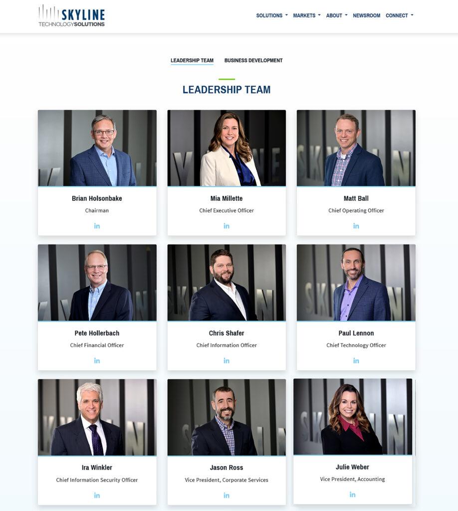Business portraits Corporate headshots for websites.